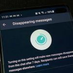"""WhatsApp launches """"disappearing messages"""" feature."""