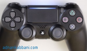 New dualshock 4 controller with a light bar on top